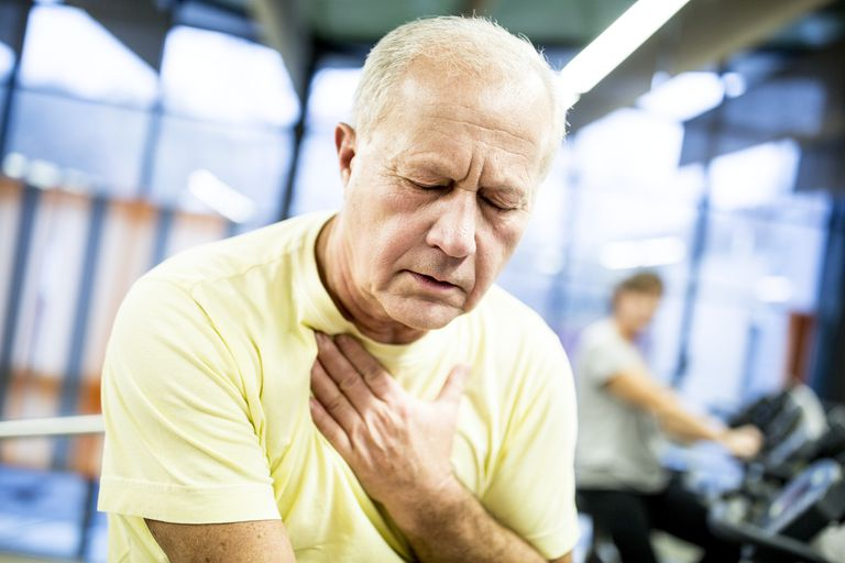 Man suffering a stroke at the gym