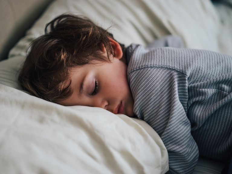 Toddler sleeping on pillow may wake from a confusional arousal and have sleep drunkenness