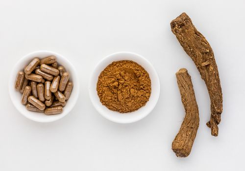 Saussurea capsules, powder, and dried whole root