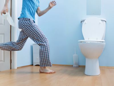 Man runs to bathroom toilet on date