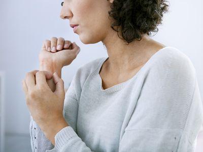 Woman with Eczema