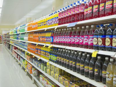 Soda at grocery store