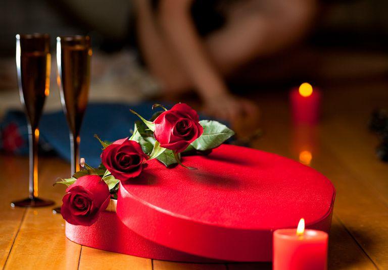 Couple celebrating Valentine's