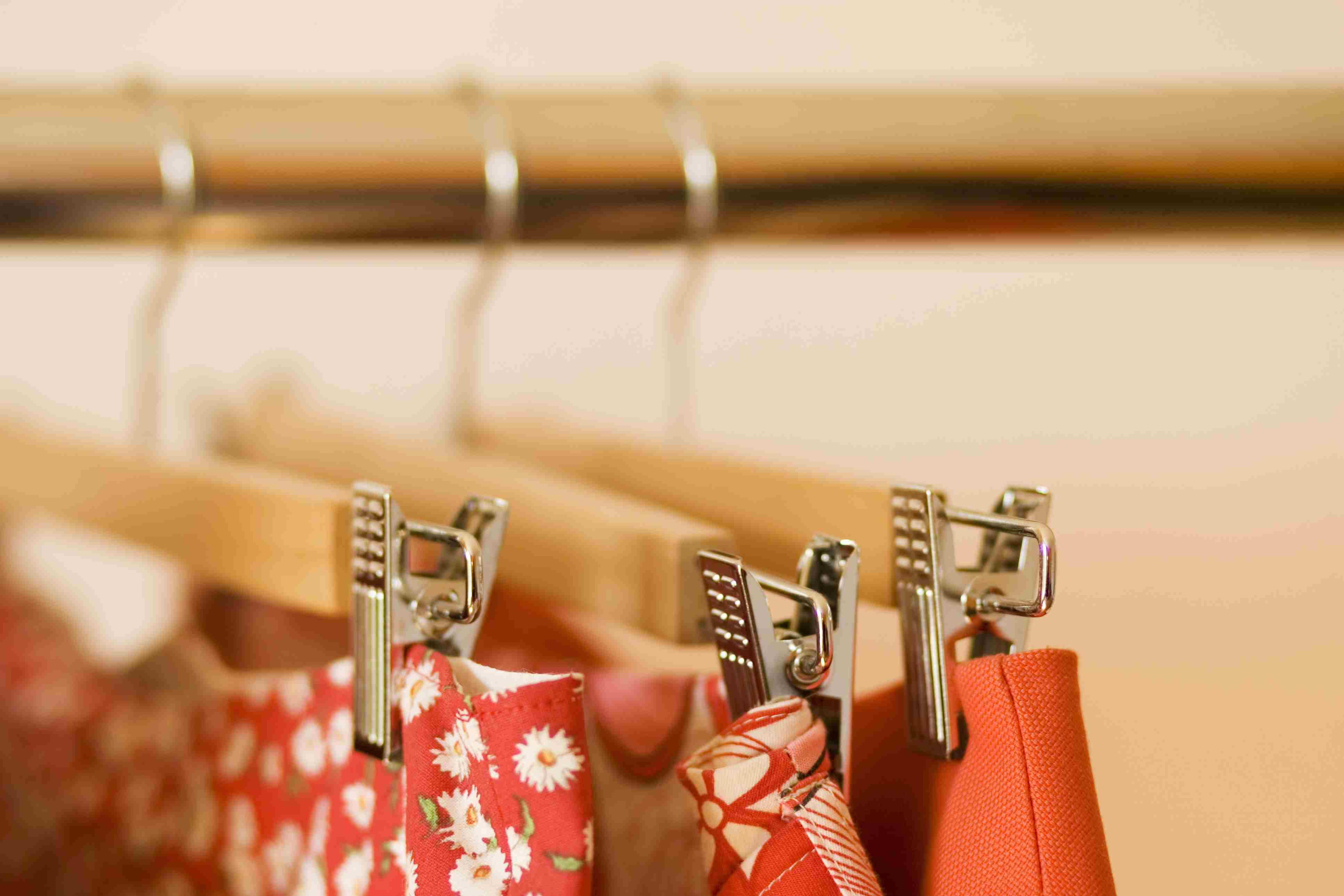 Skirts on a rack