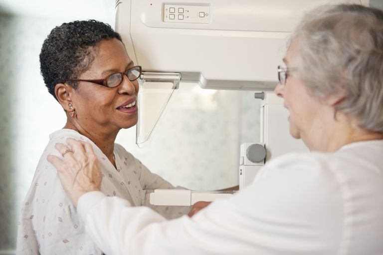 Mature Woman having Mammogram