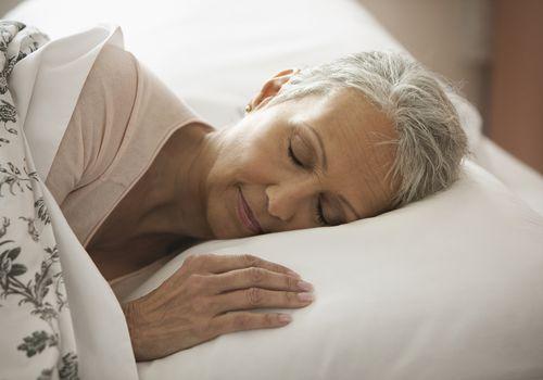 An older woman asleep