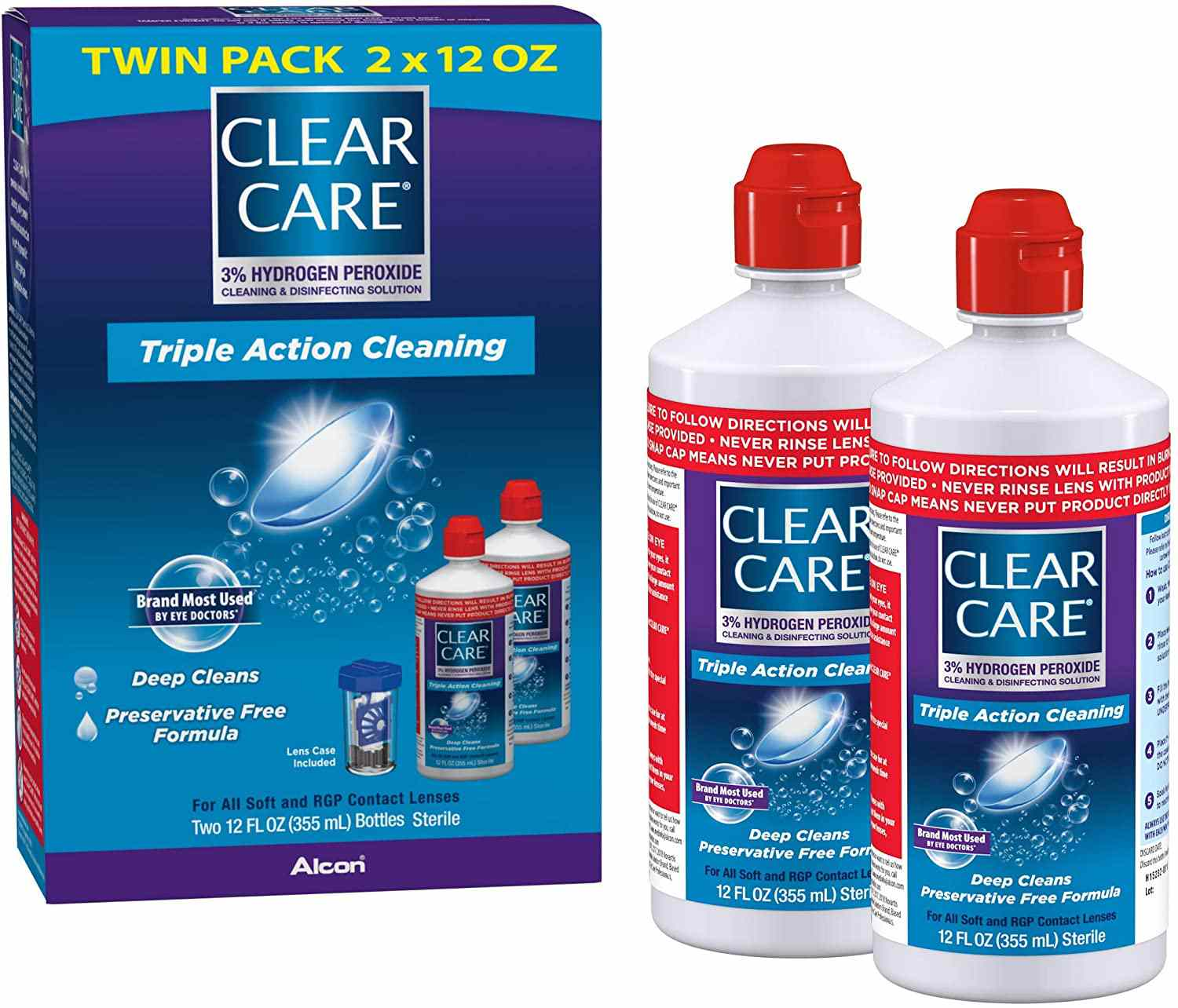 Clear Care Cleaning & Disinfecting Solution with Lens Case