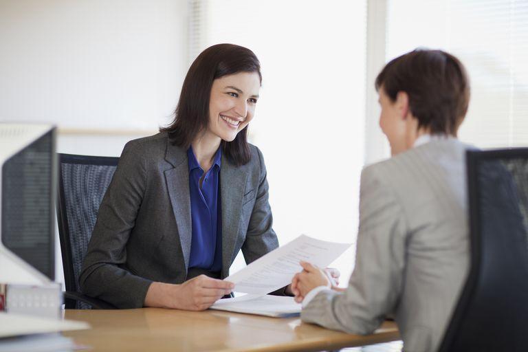 job interview between two women
