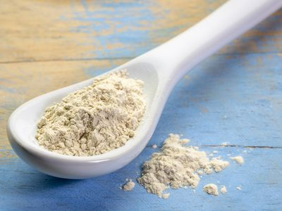 ashwagandha root powder on teaspoon
