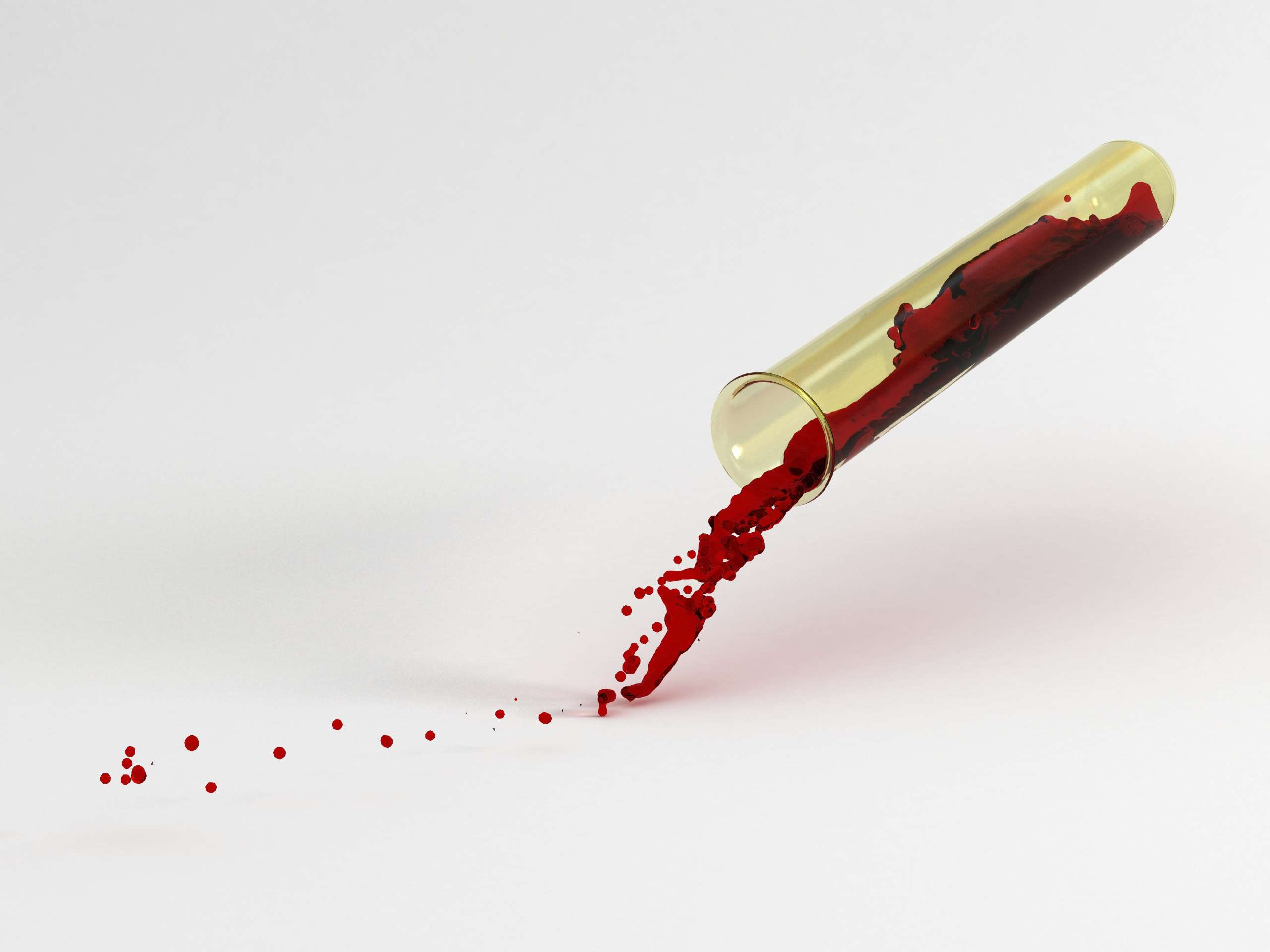 Test tube filled with blood