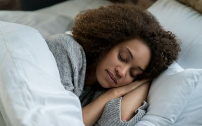 Portrait of a beautiful woman sleeping