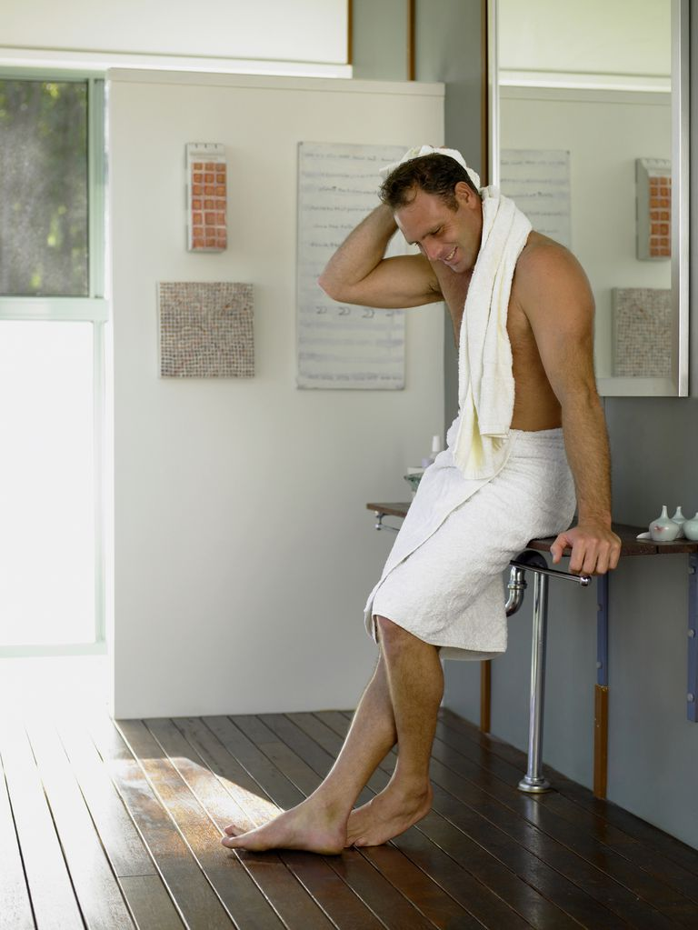 Man Drying with Towel