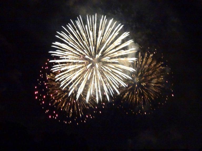 still photograph of a fireworks display