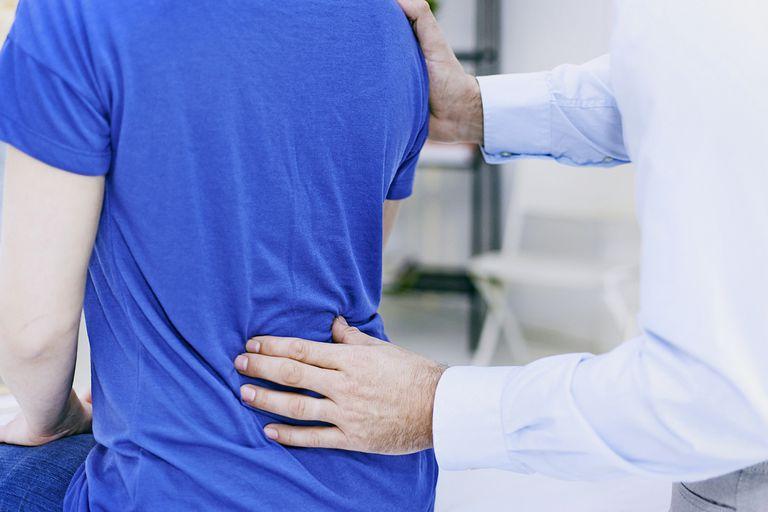 Rheumatology Consultation, Doctor Examining back