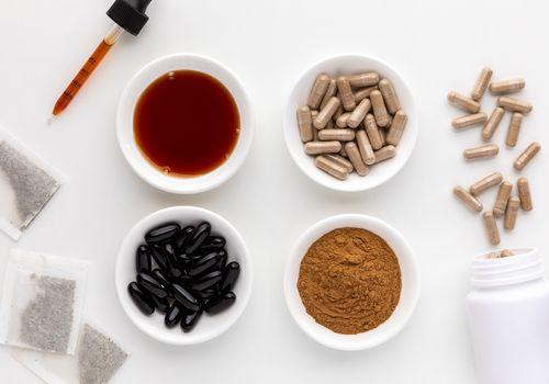 Pygeum tea, capsules, powder, softgels, and tincture