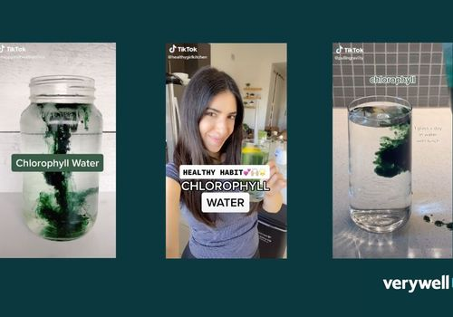 TikTok screenshots of chlorophyll water