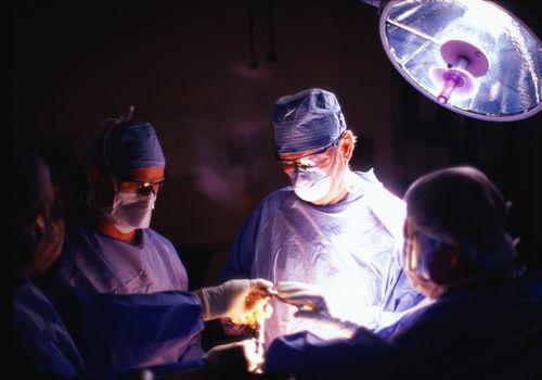 surgeons performing arthroscopic surgery