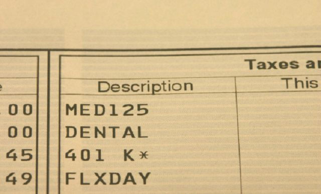 A medical record on paper