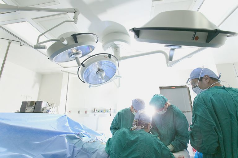 surgical team in operating room