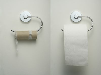 Toilet paper running out