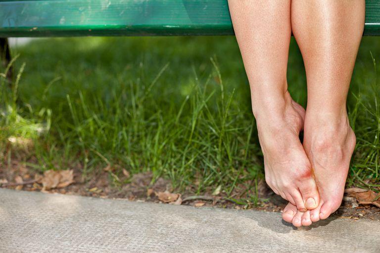 Bare woman feet