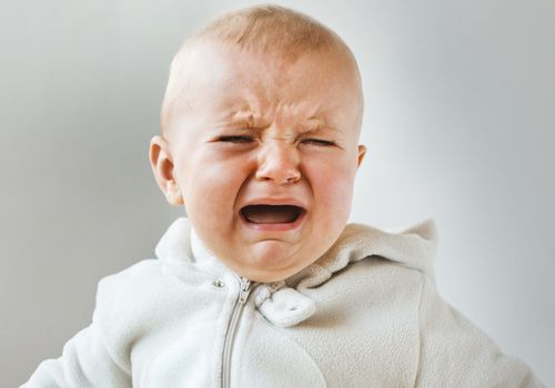 Close-up of a crying baby