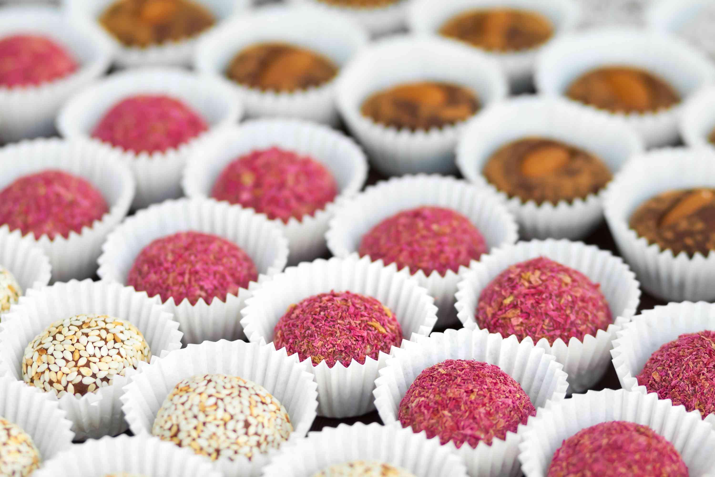 Sugar-free vegan candies on a platter
