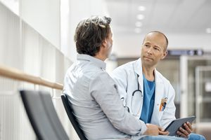 Man with doctor