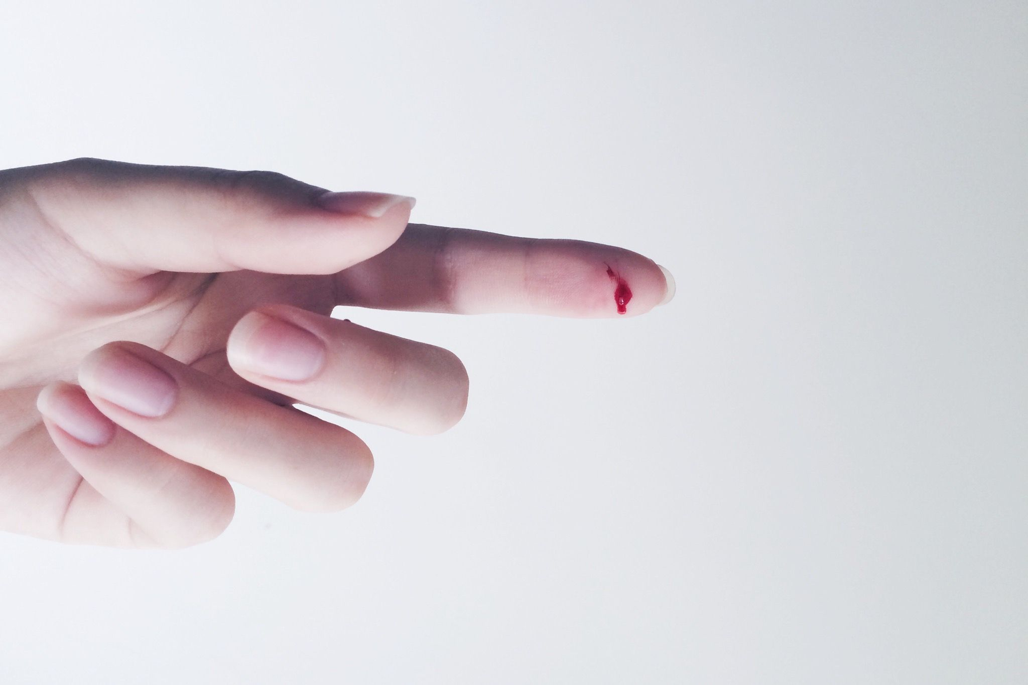Bleeding finger