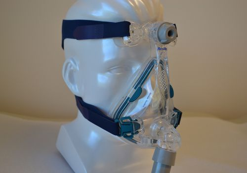 ResMed Quattro mask for use with positive airway pressure to treat sleep apnea.