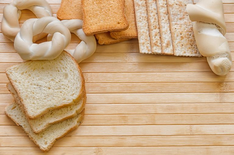Assorted Bread, bread sticks, crackers