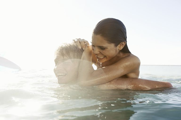 couple in the ocean