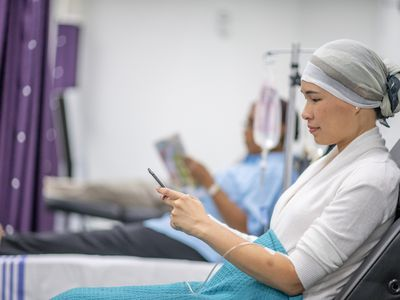 Cancer patient in oncology unit