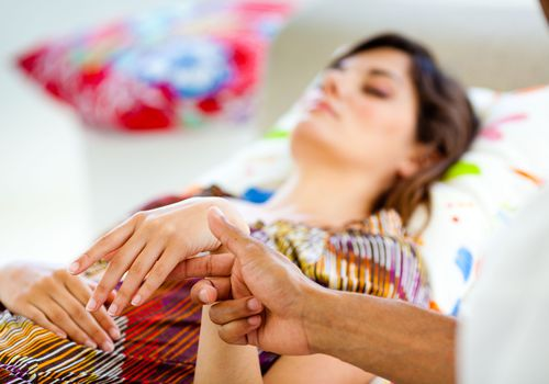 woman undergoing hypnosis