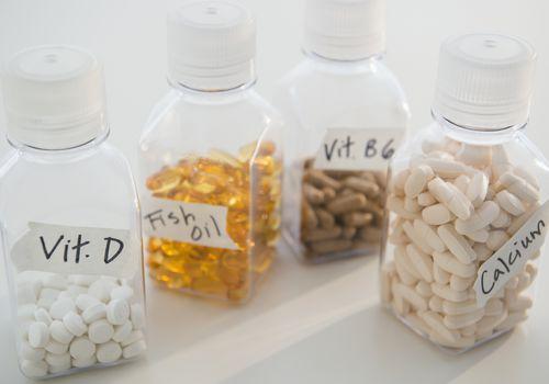 bottles of supplements
