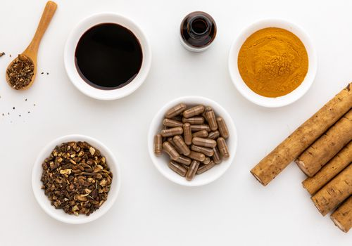 Burdock tincture, dried root, capsules, and powder