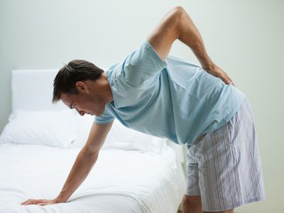 Man hurt with herniated disc