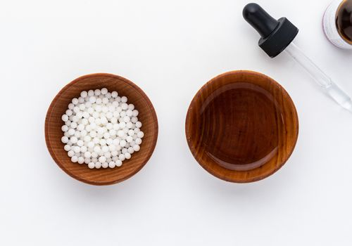 Nux vomica pellets and tincture