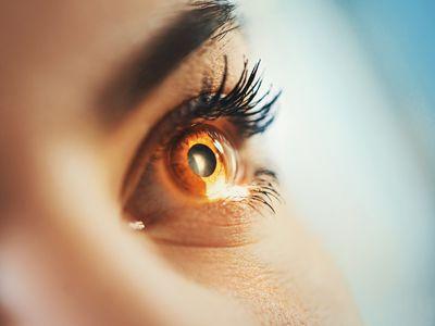Eyesight exam. - stock photo