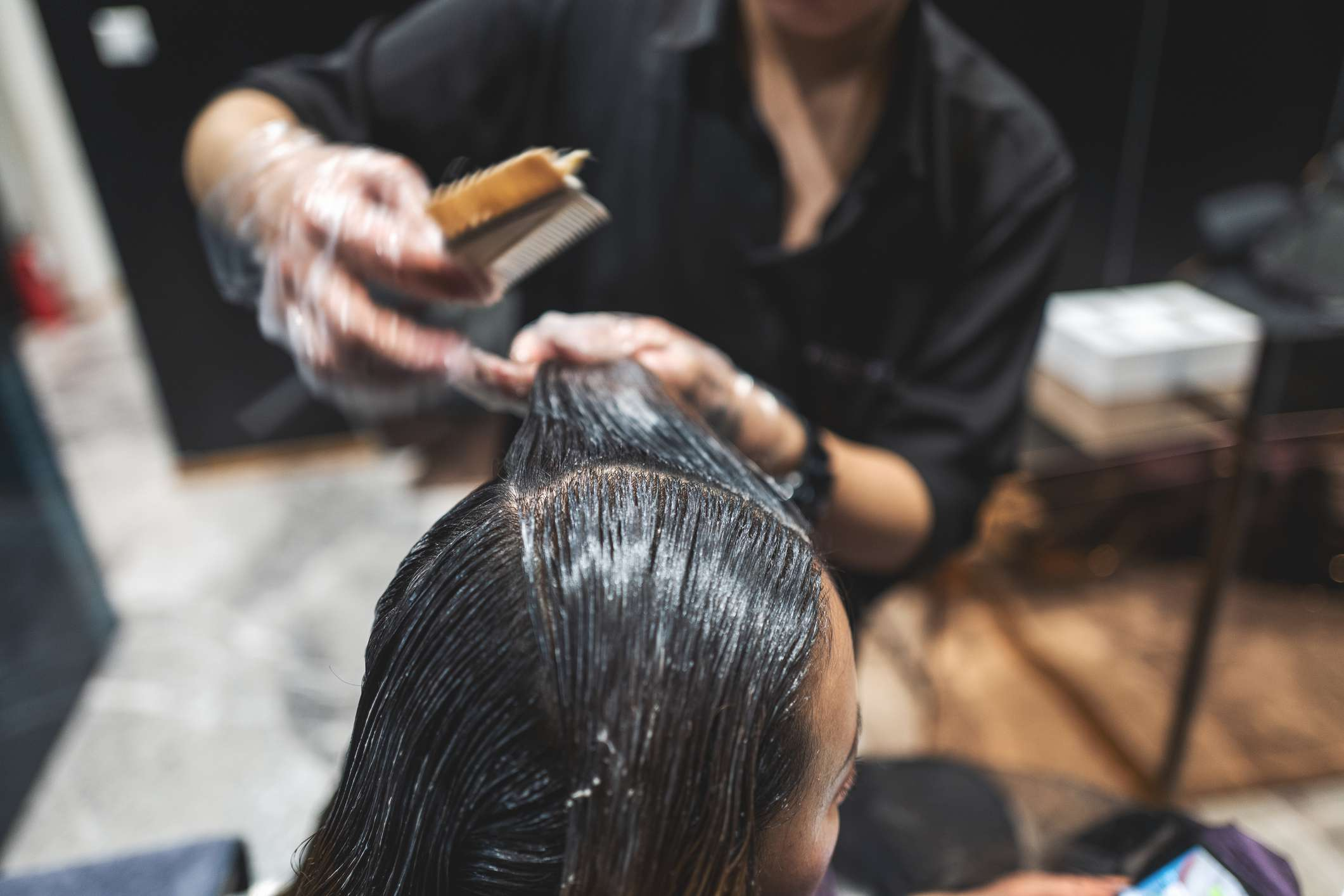 Hair and many hair products contain keratin