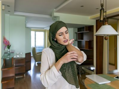 Muslim Woman with Skin Allergy