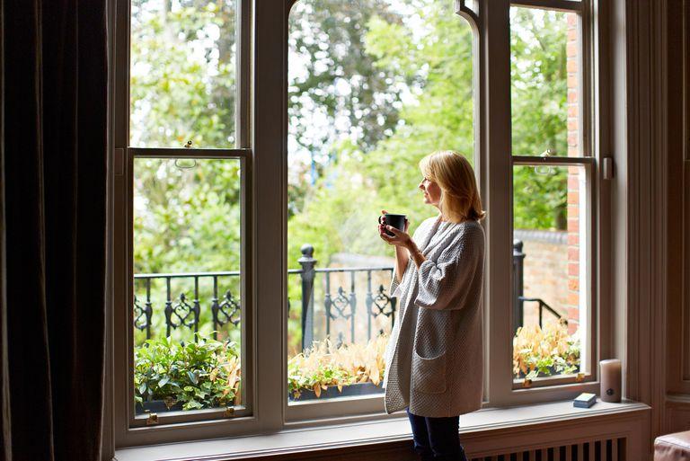 Woman waiting at home