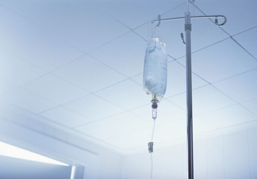 Intravenous Bag on Stand.