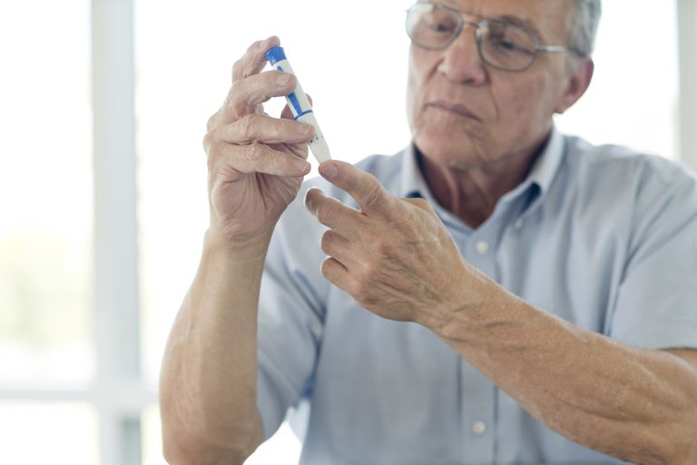 Diabetes finger prick