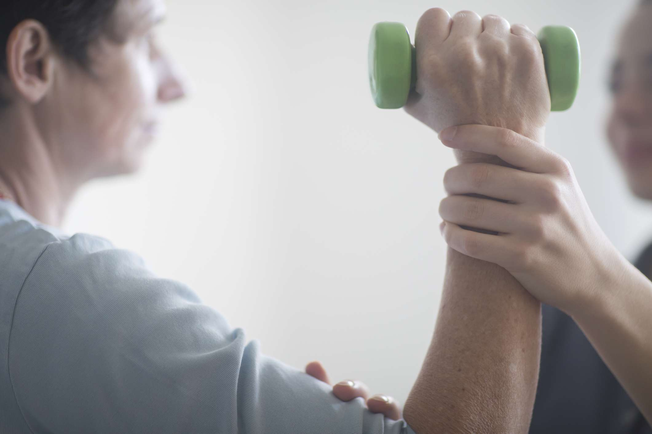 A man in physical therapy