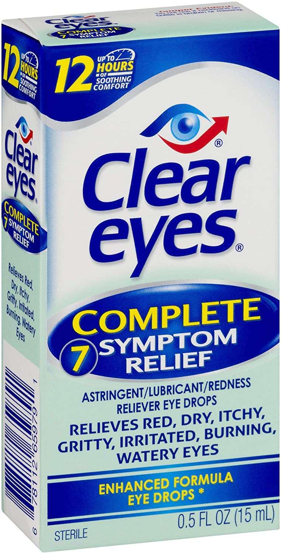 Clear Eyes Eye Drops, Complete 7 Symptom Relief