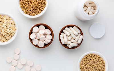 Beta-Glucan tablets, capsules, oats, barley, and wheat