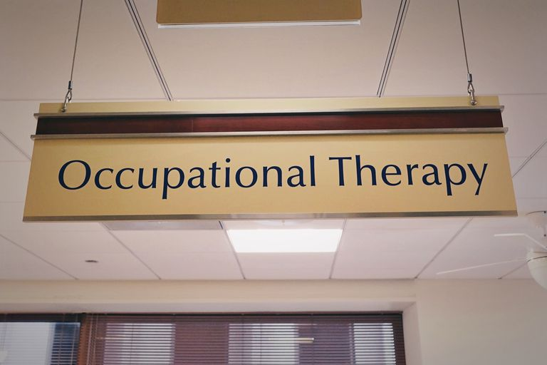 Occupational Therapy sign hanging in an office