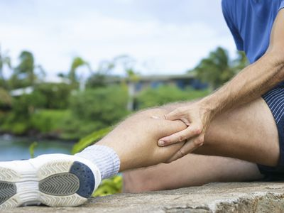 Runner with achilles tendon injury