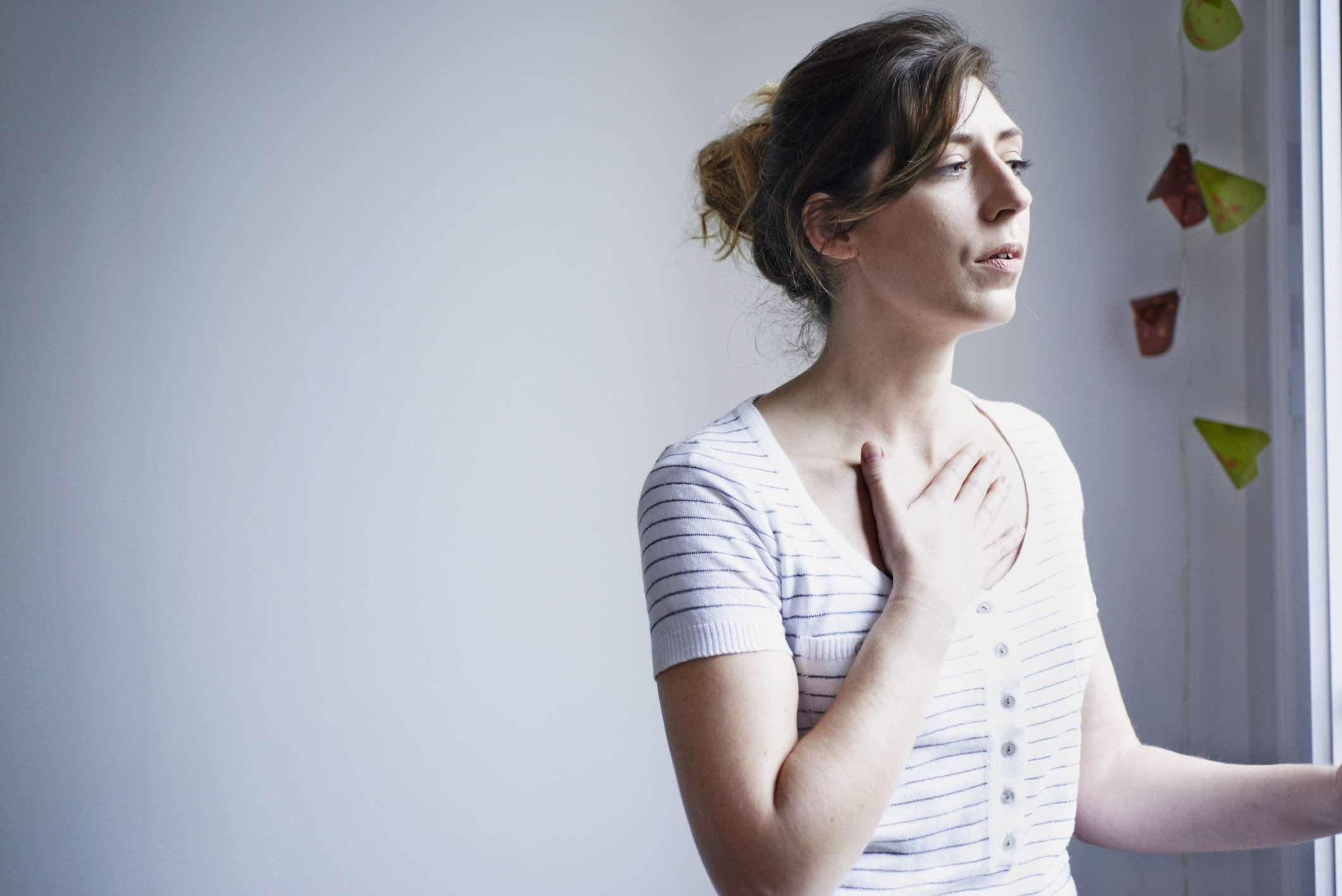 Woman with shortness of breath